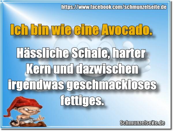 Fettige Avocado