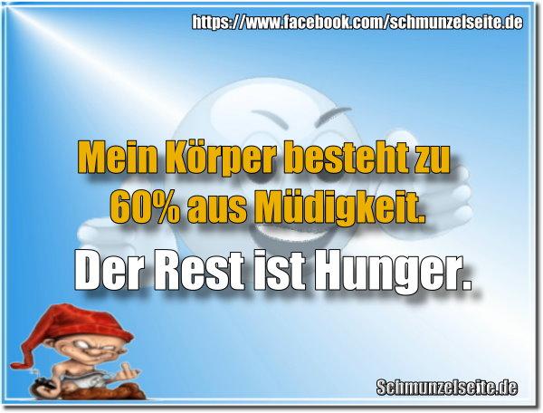 Müdigkeit und Hunger