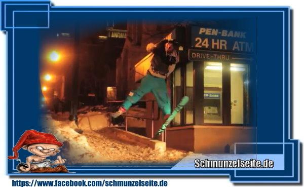 Genialer Ski Trick