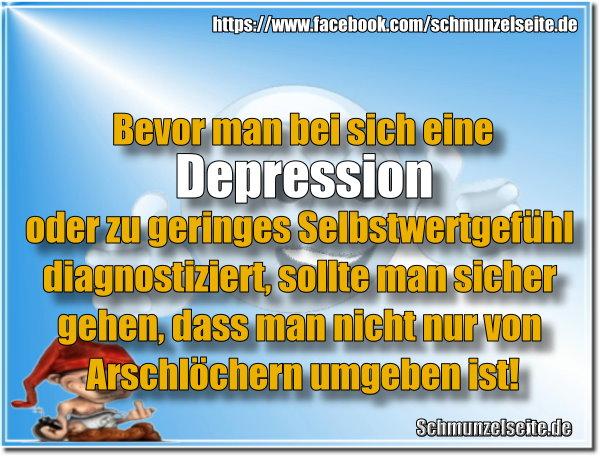 Depression diagnostiziert