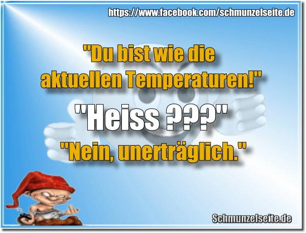 Aktuelle Temperaturen