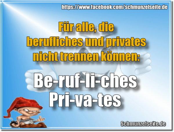Berufliches und privates