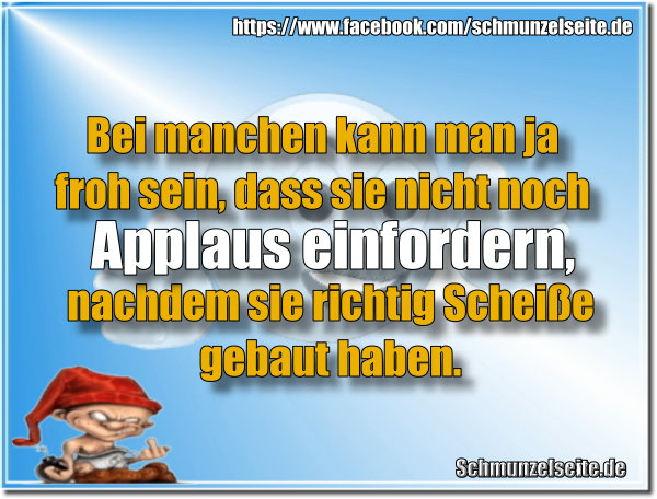 Applaus einfordern