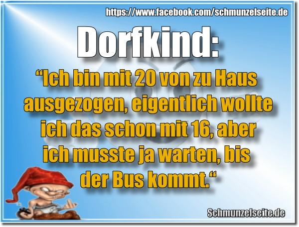 Dorfkind im Bus
