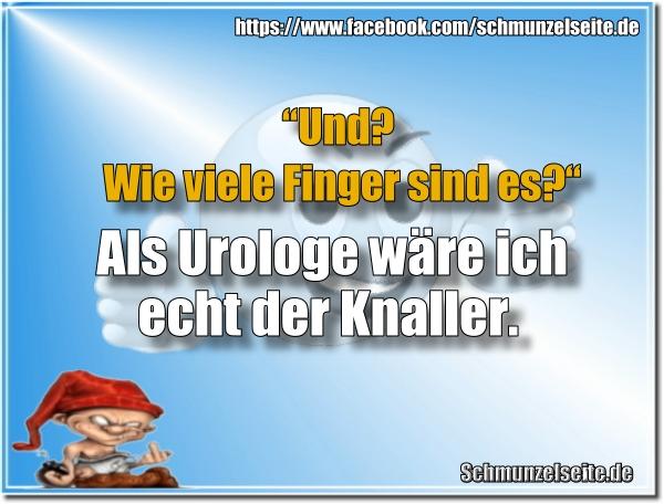 Urologe und Finger