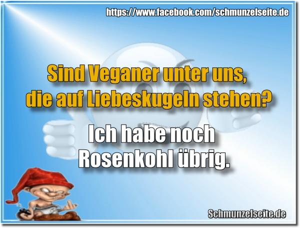 Veganer und Rosenkohl