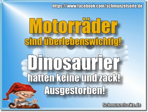 Dinosaurier vs. Motorrad