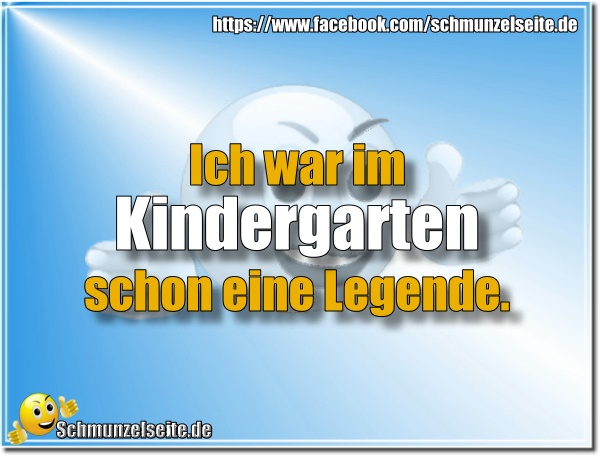 Legende im Kindergarten
