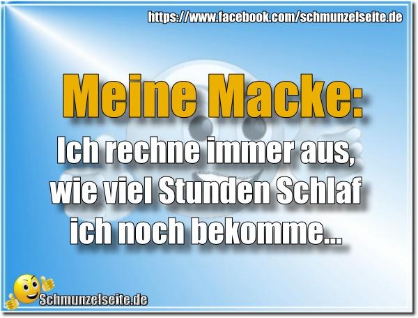 Schlaf Macke