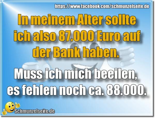 Euro auf der Bank