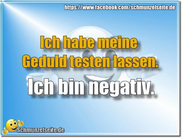 Ich bin negativ